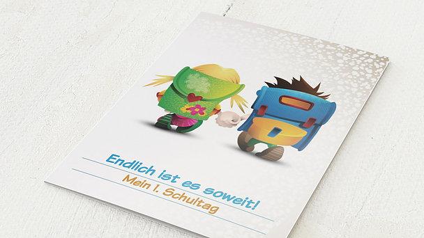 Einladungen zur Einschulung - Schulranzen