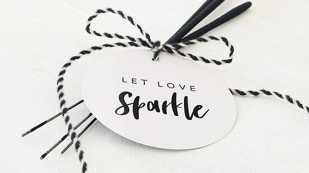 Wunderkerzen Anhänger - Love & Joy