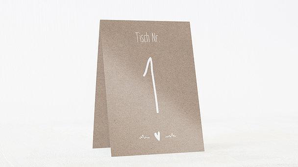 Tischnummern - Rustique