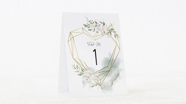 Tischnummern - Herzliche Eleganz