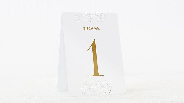 Tischnummern - Goldsturm