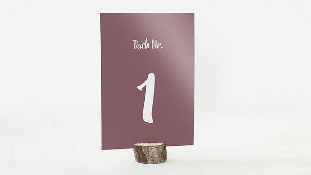 Tischnummern - Verliebt, verlobt