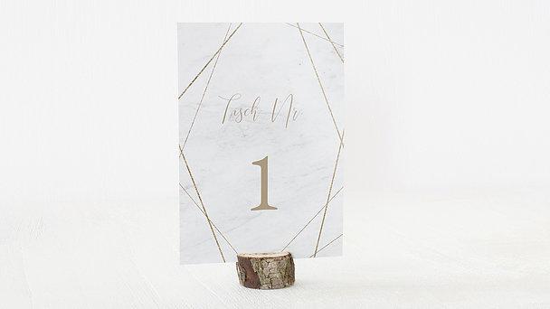 Tischnummern - Gold & Marmor