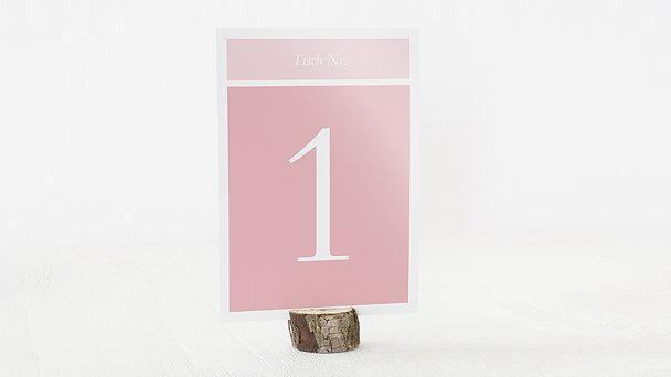 Tischnummern - Hochzeitscollage