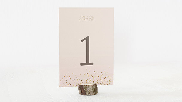 Tischnummern - Geflitter