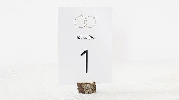 Tischnummern - Zarte Ringe