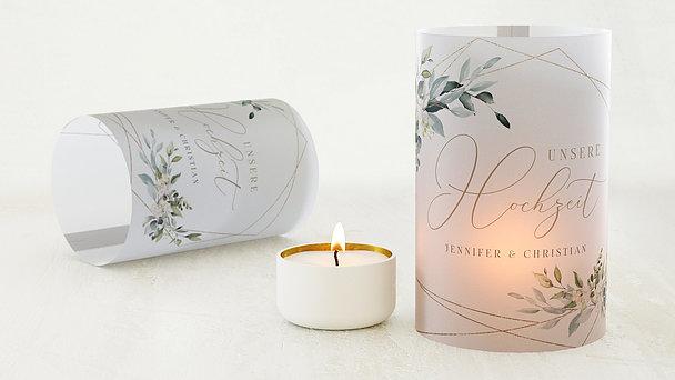 Windlicht als Tischdeko - Tender Florals