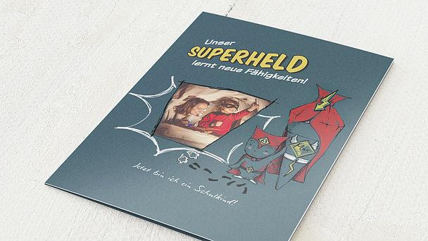 Danksagung Einschulung - Unser Superheld