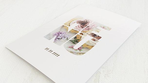 Menükarten - Taufe Fototext