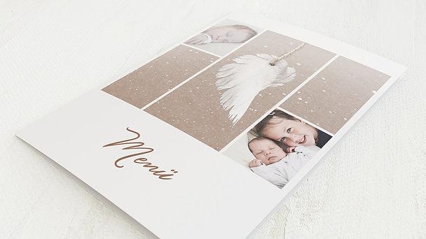 Menükarten - Zarte Flügel Baby