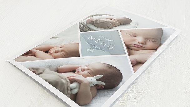 Menükarten - Facetten Baby