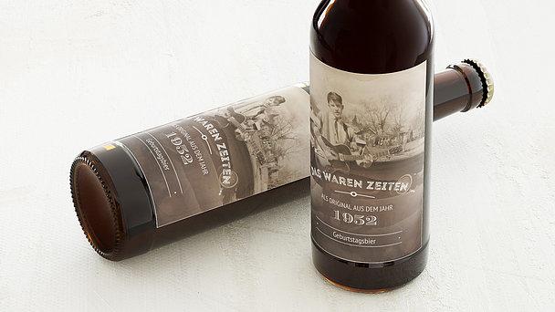 Bieretiketten Geburtstag - Alte Zeiten 70