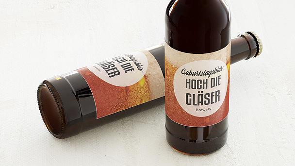 Bieretiketten Geburtstag - Gutschein Bier