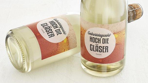 Sektetiketten Geburtstag - Gutschein Bier