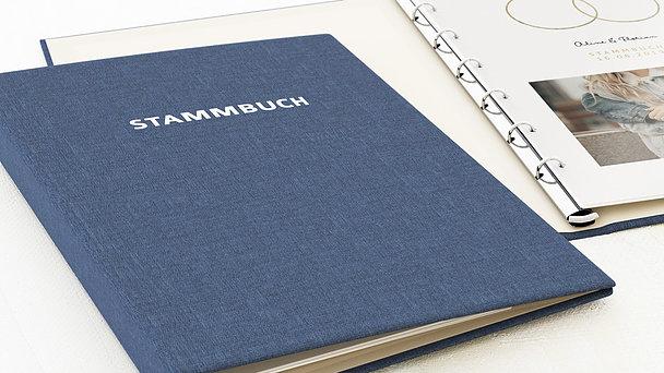 Stammbuch - Zarte Ringe