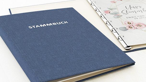 Stammbuch - Pastellblüten