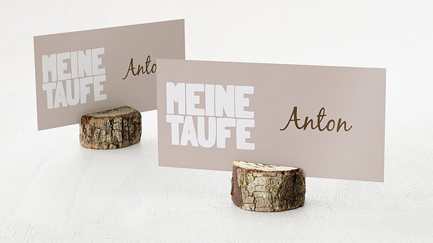 Tischkarten - Taufe Fototext