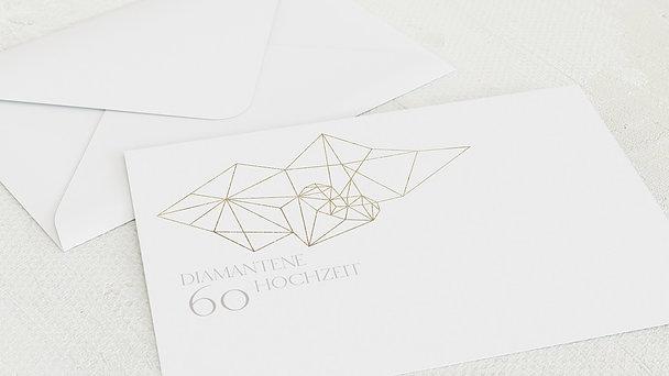 Umschlag mit Design Diamantene Hochzeit - Herz Diamant