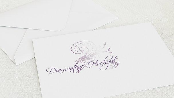 Umschlag mit Design Diamantene Hochzeit - Frühlingsgefühle