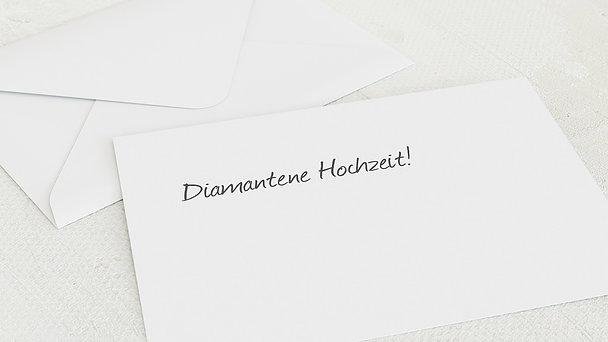 Umschlag mit Design Diamantene Hochzeit - Getäfelt