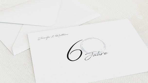Umschlag mit Design Diamantene Hochzeit - Liebesspur
