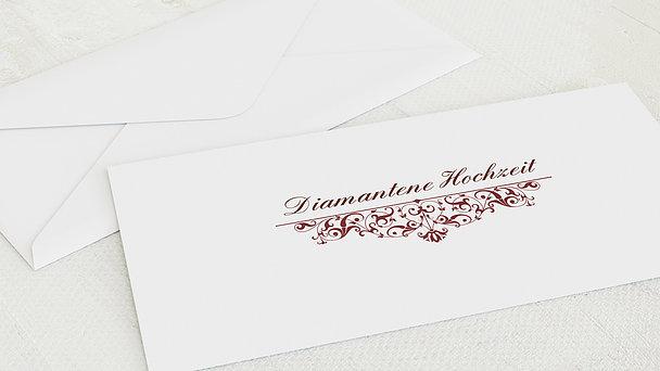 Umschlag mit Design Diamantene Hochzeit - Bestimmung