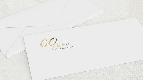 Umschlag mit Design Diamantene Hochzeit - Rustikale Eleganz
