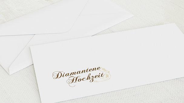 Umschlag mit Design Diamantene Hochzeit - Blumenbraut