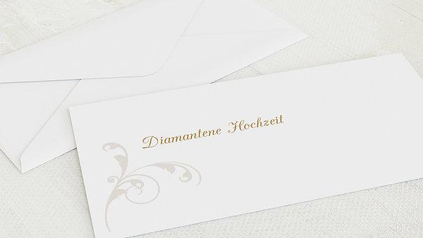 Umschlag mit Design Diamantene Hochzeit - Pastellblüte