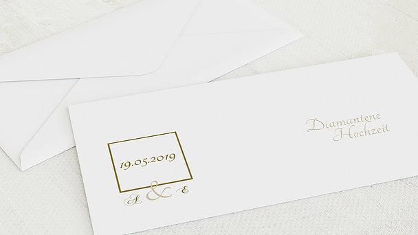 Umschlag mit Design Diamantene Hochzeit - Vermählung
