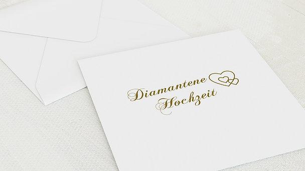 Umschlag mit Design Diamantene Hochzeit - Liebesbrief