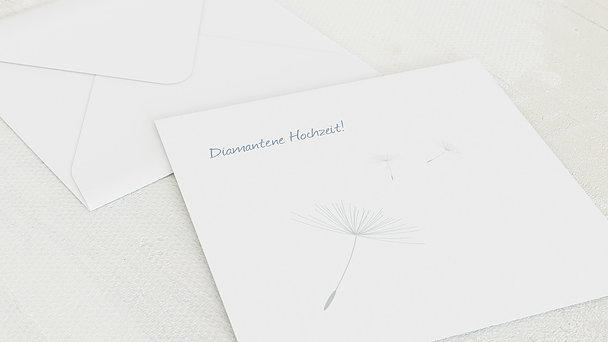 Umschlag mit Design Diamantene Hochzeit - Löwenzahn