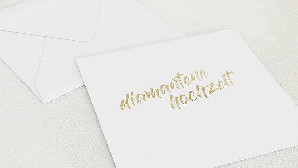 Umschlag mit Design Diamantene Hochzeit - Diamantener Jahrestag