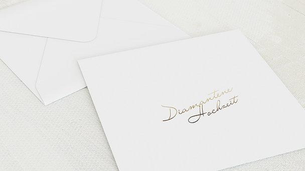 Umschlag mit Design Diamantene Hochzeit - Diamantene Zeiten