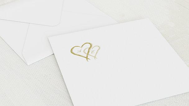 Umschlag mit Design Diamantene Hochzeit - Mein Herz