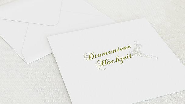 Umschlag mit Design Diamantene Hochzeit - Der große Tag