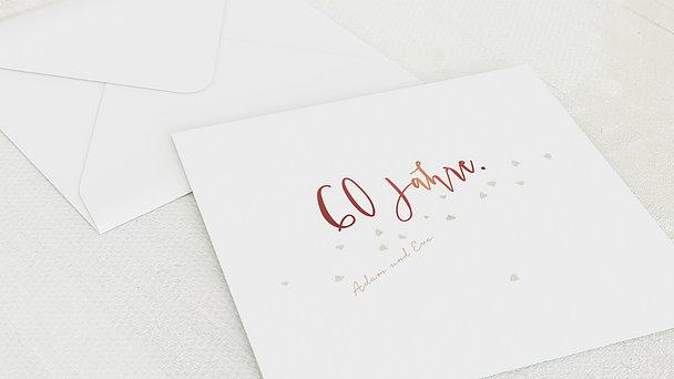 Umschlag mit Design Diamantene Hochzeit - Diamant