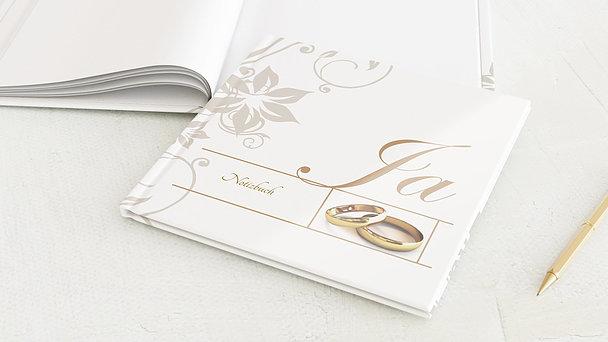 Notizbuch Hochzeit - Weiße Hochzeit