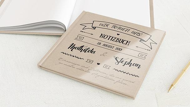 Notizbuch Hochzeit - Kraftpapier