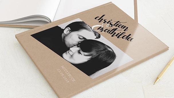 Notizbuch Hochzeit - Ziellinie