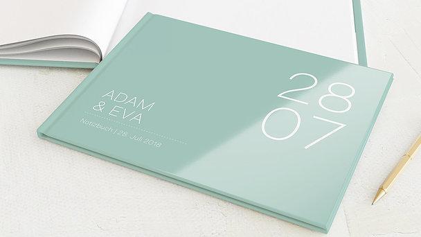 Notizbuch Hochzeit - Große Nummer