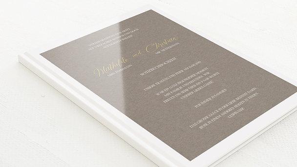 Notizbuch Hochzeit - Titelblatt