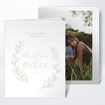 Notizbuch Hochzeit - Weiße Bande