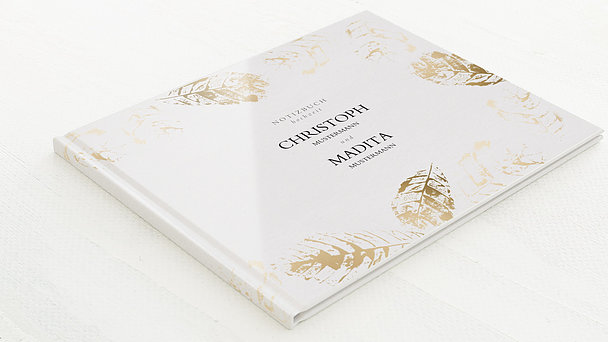 Notizbuch Hochzeit - Blattwerk