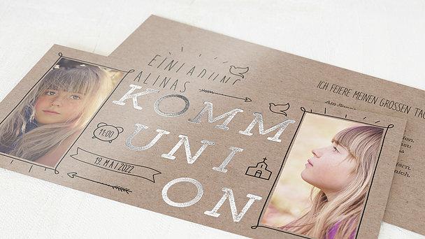 Kommunionskarten - Freudestrahlen