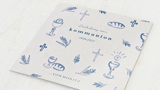 Kommunionskarten - Feierliches Abendmahl
