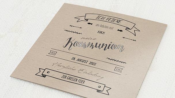Kommunionskarten - Kraftliner