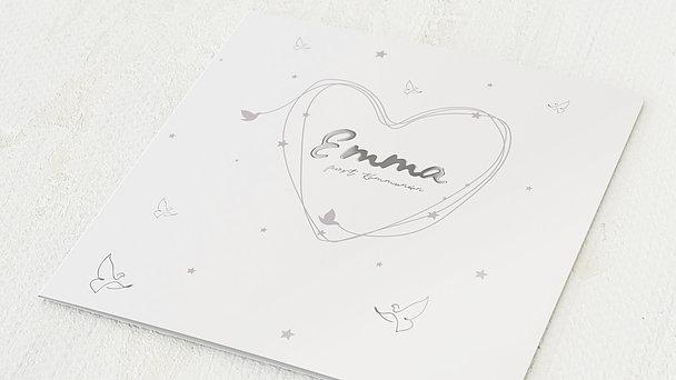 Kommunionskarten - Herz & Sterne