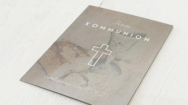 Kommunionskarten - Leinentuch