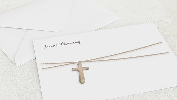 Umschlag mit Design Firmung - Holzkreuz